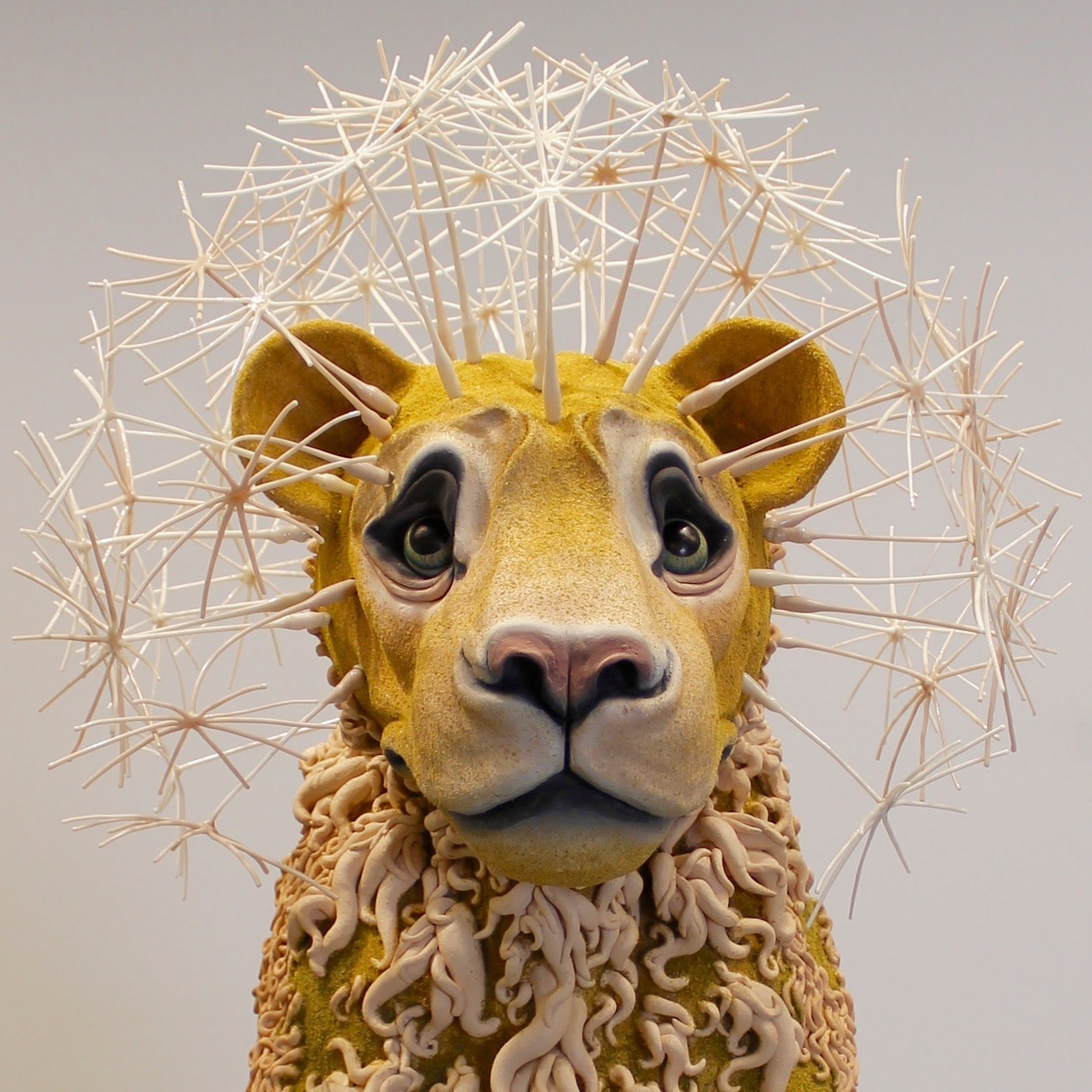 Ceramic sculpture of a lion by Suzanne Head thumbnail