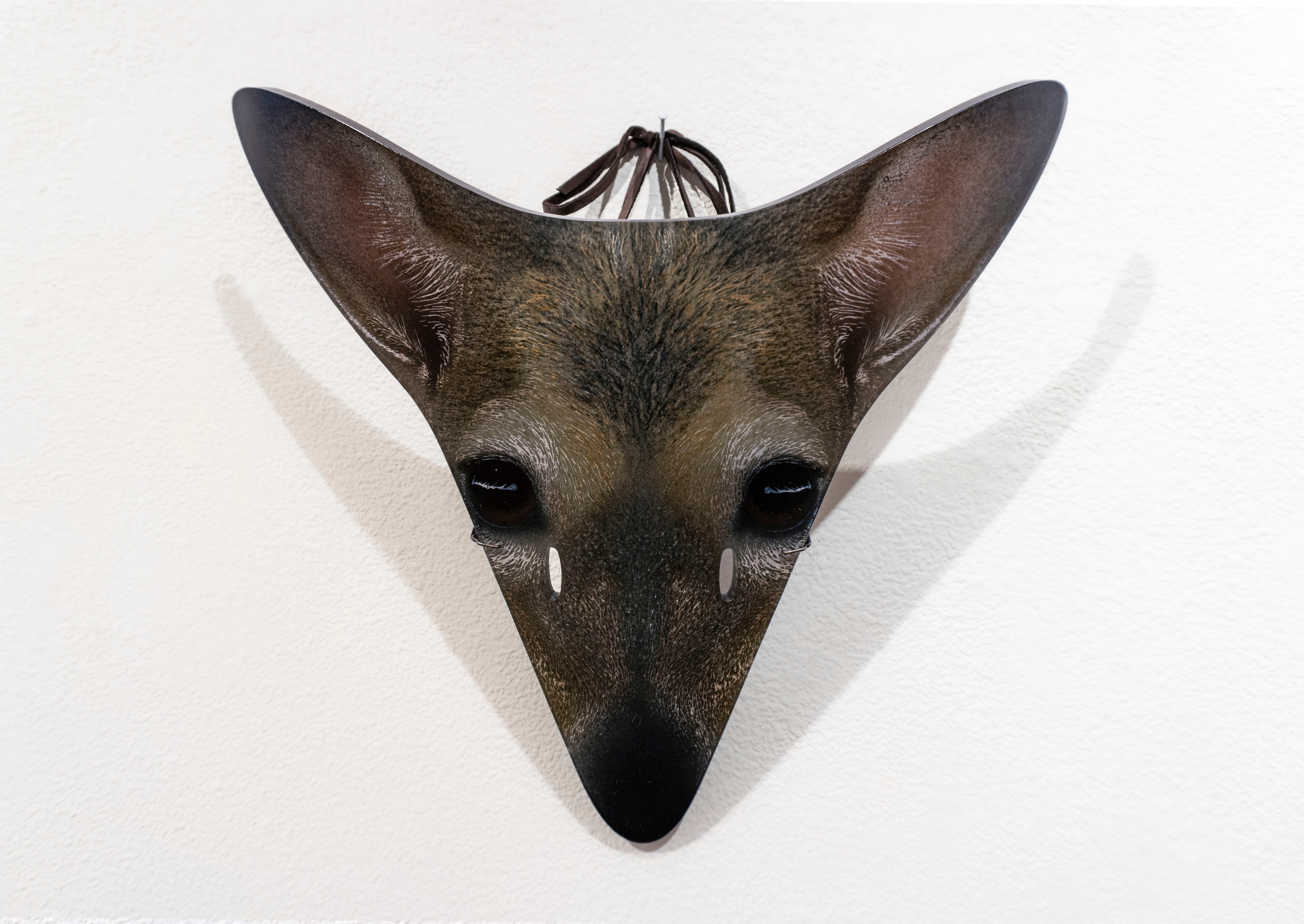 "Fused Glass titled ""Deer Mask"" by Suzanne Head"