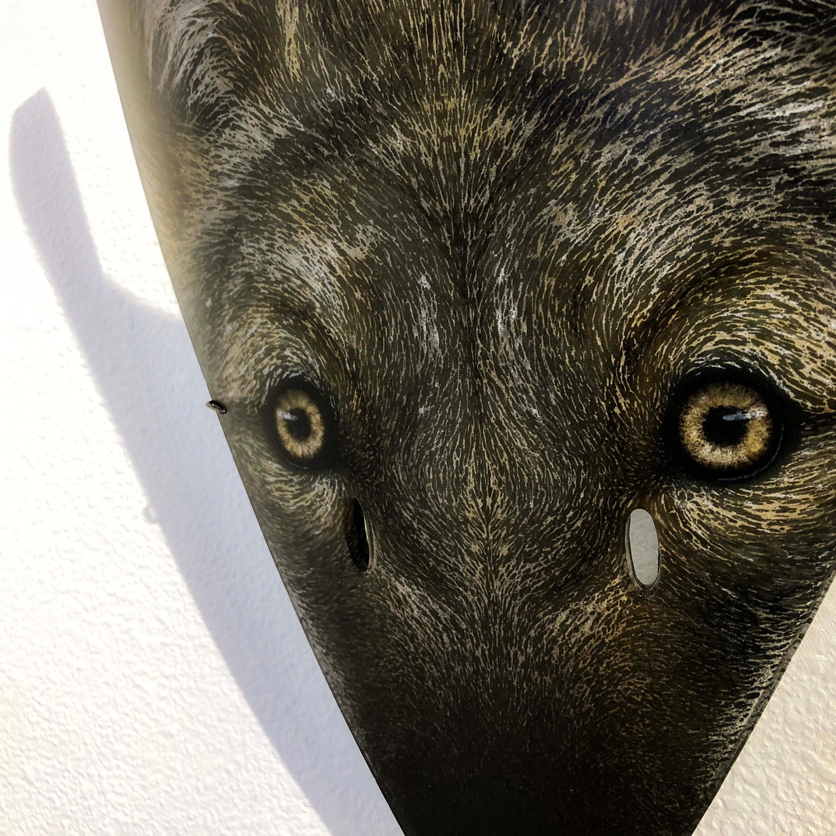 Suzanne Head glass coyote mask thumbnail
