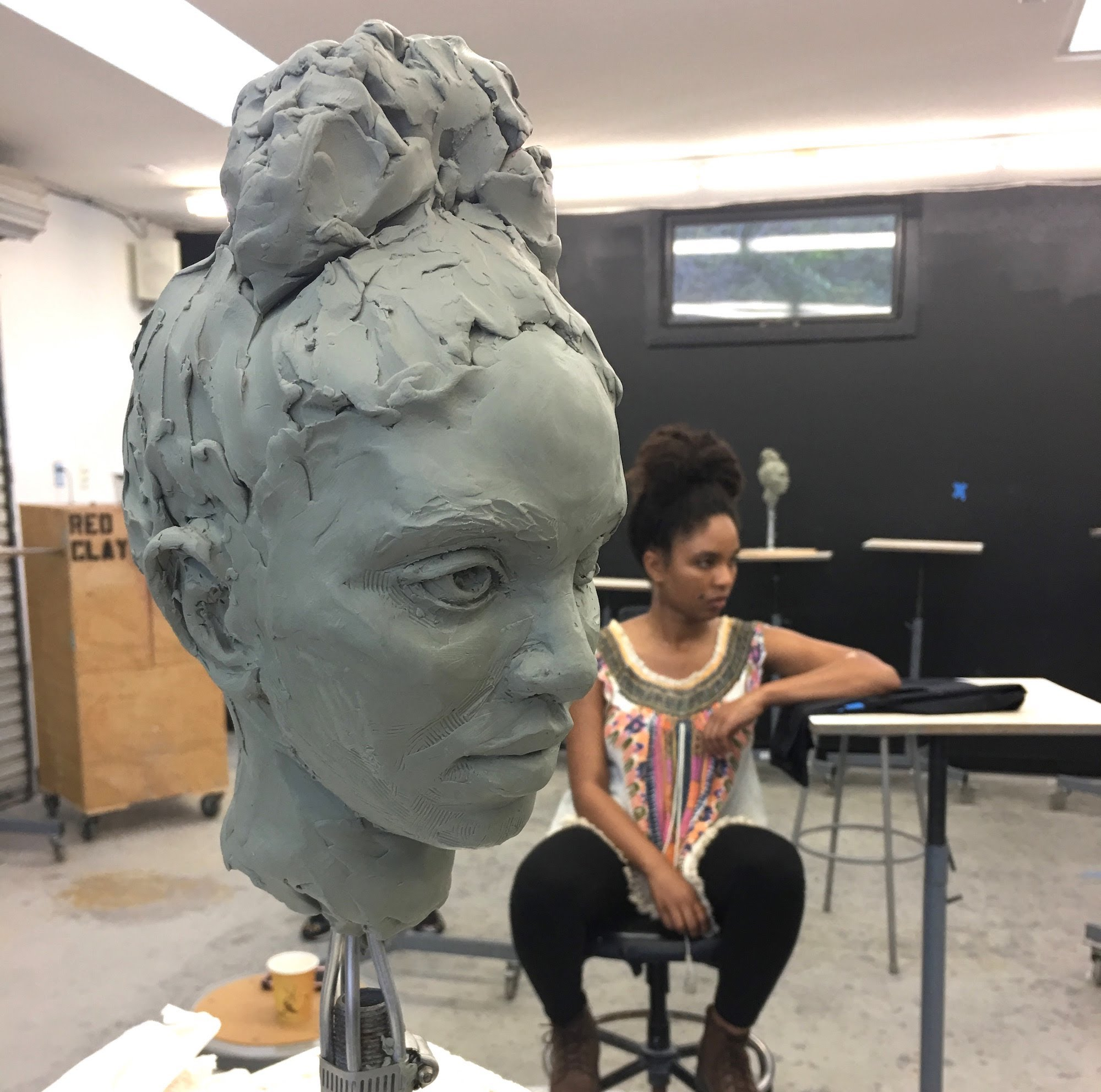 Portrait sculpture by Suzanne Head