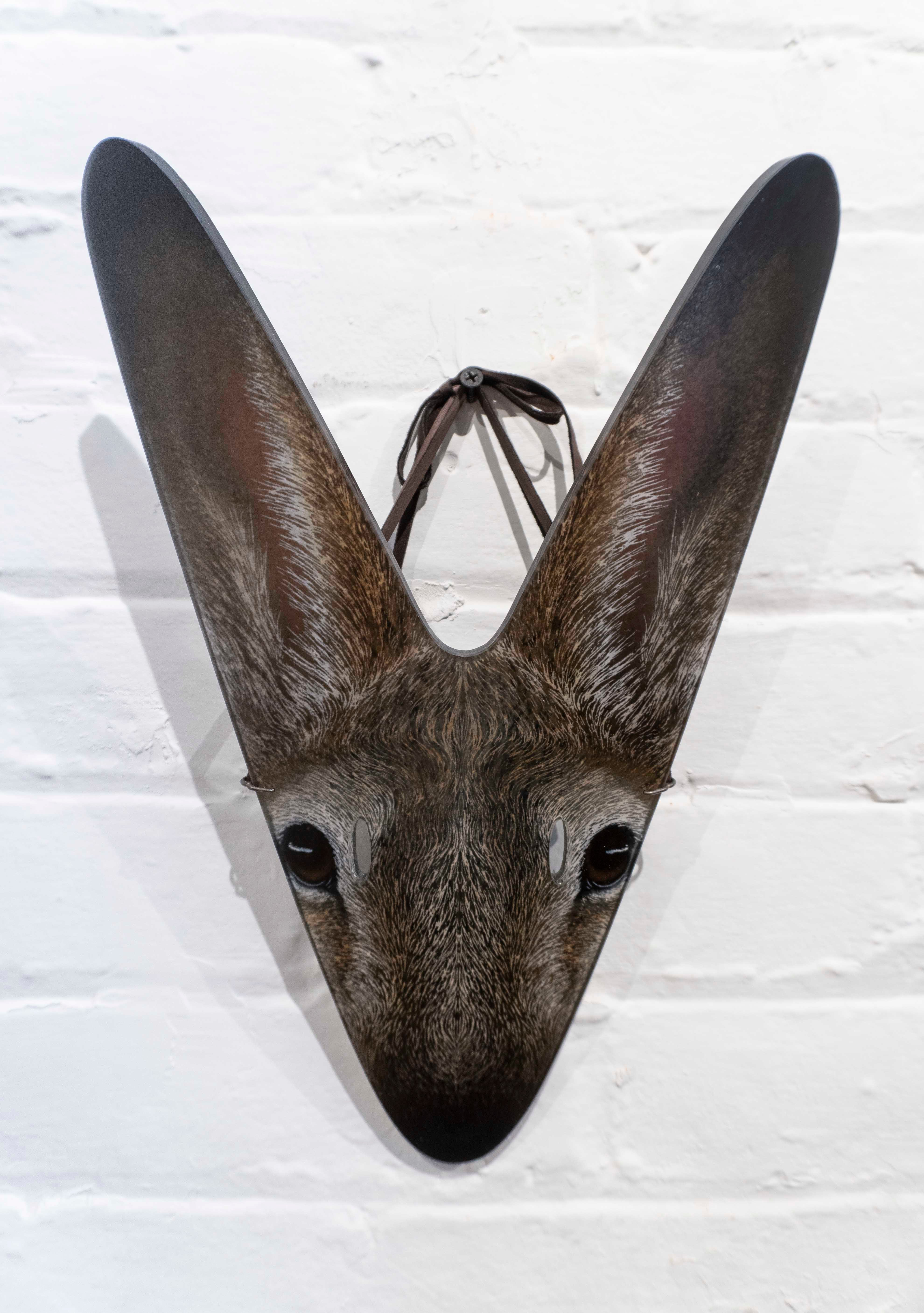 Glass rabbit mask by Suzanne Head