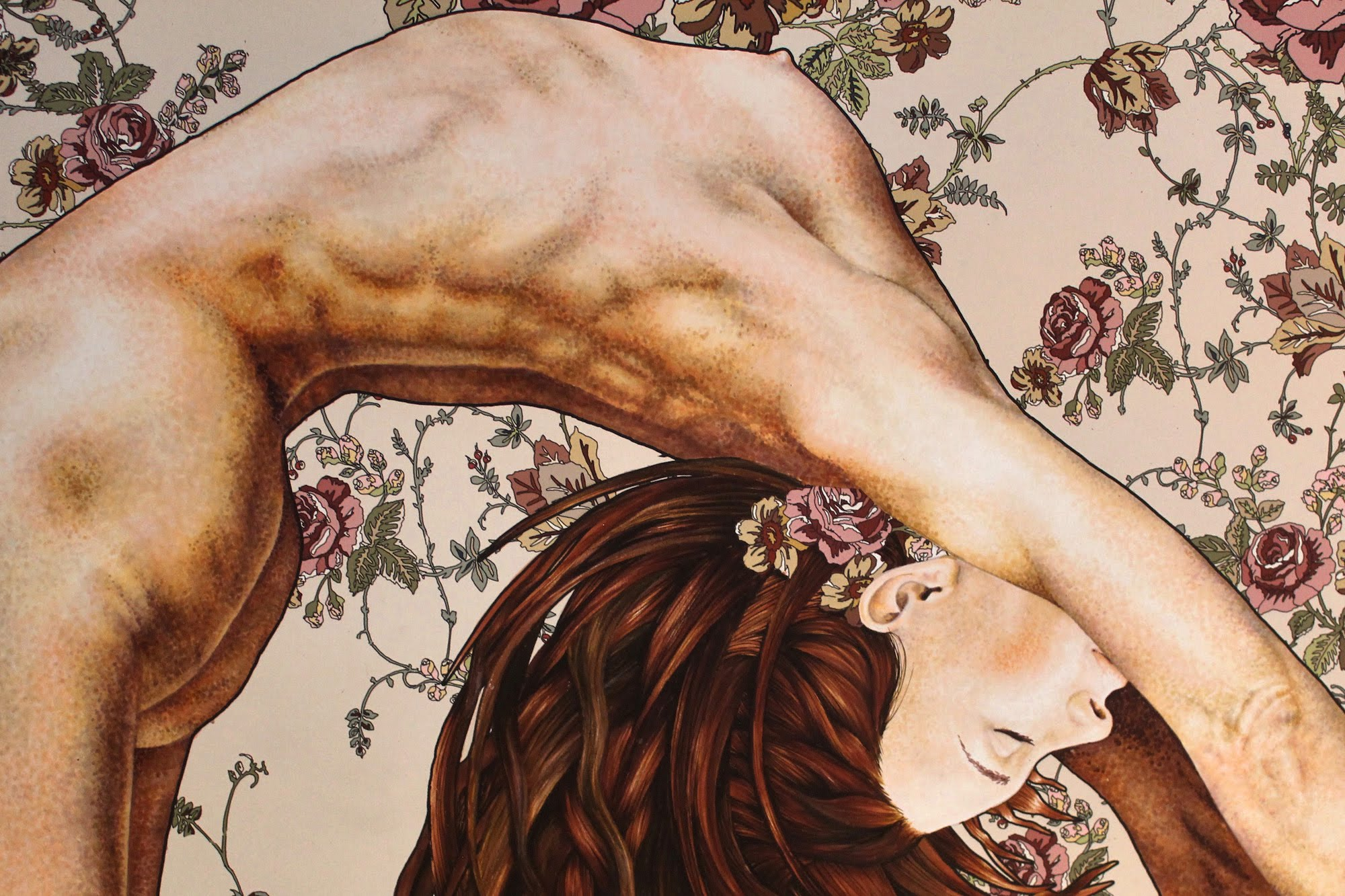 Crop of marker drawing titled Bend by Suzanne Head