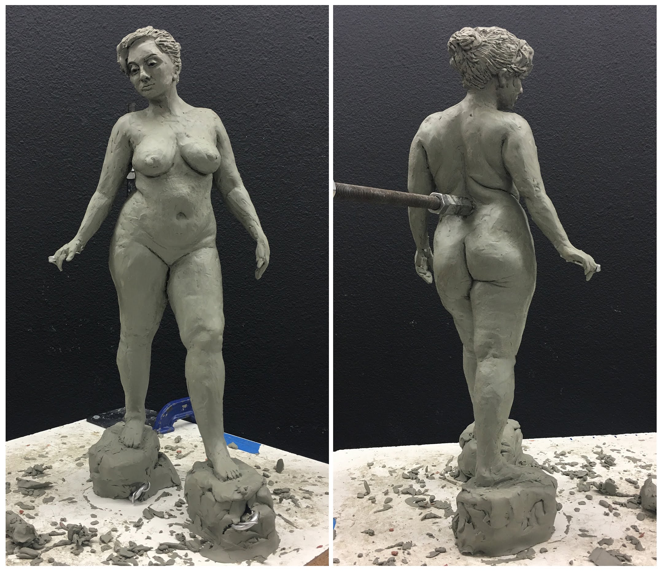 figure sculpture study by Suzanne Head