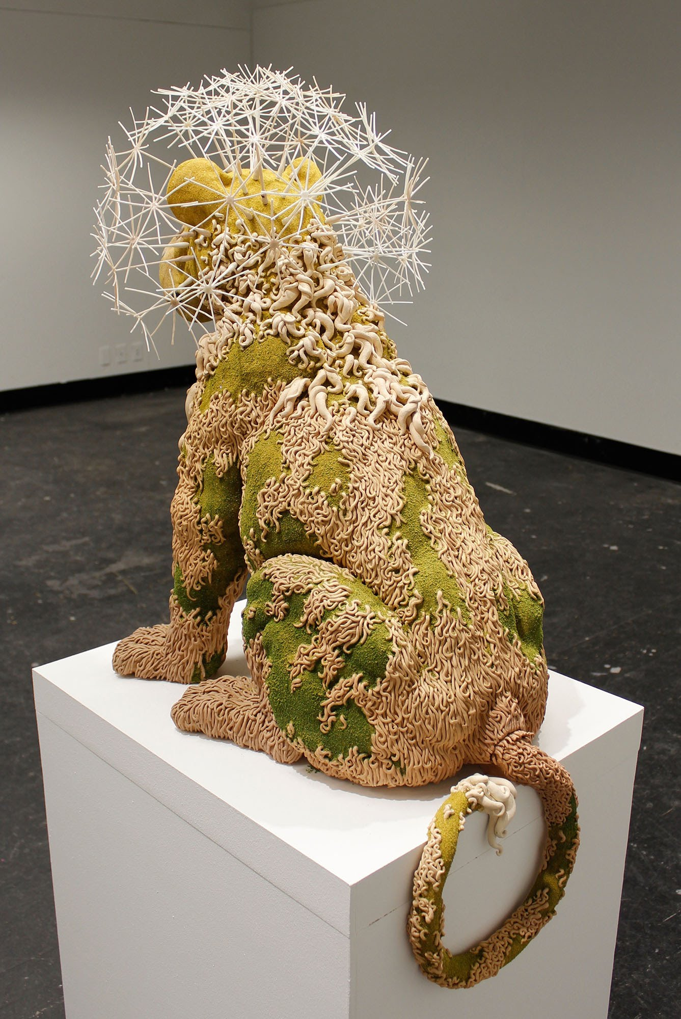 back view of lion sculpture by Suzanne Head